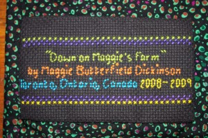 "Label for ""Down on Maggie's Farm"""